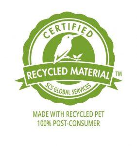 Logo plástico reciclable